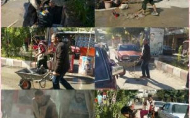 فريق شعلة ناشط التطوّعي و كشافة ناشط ينفذان حملة نظافة واسعة