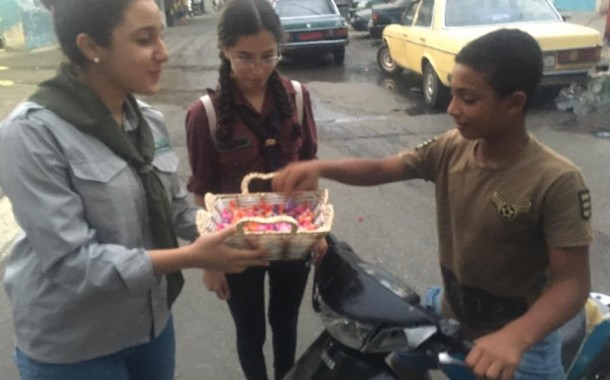 فوج جيل العودة لا يزال مصدر الفرح لأطفال  مخيم عين الحلوة