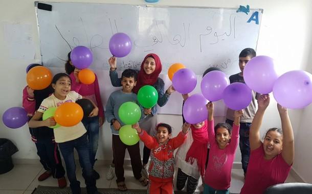 نادي بنات فلسطين و بسمة امل نشاط بمناسبة اليوم العالمي للطفل
