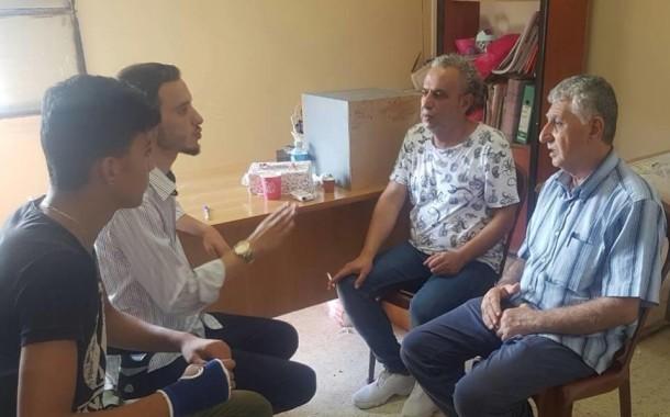 شعلة ناشط يستقبل وفد من لجنة أهالي حطين